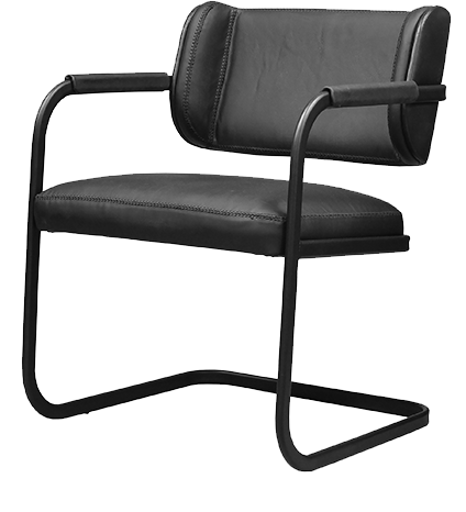 black-leather-chair-metal-frame-pure-furniture-chairs-collection