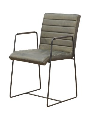 BRYNN-SQUARE-BACK-WOODEN-ARMREST-ROUND-BLACK-FRAME_military-olive-matt-Pure-Furniture-1