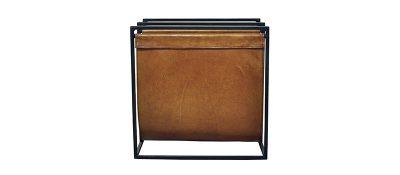 Magazine-Holder-Double-Black-Frame-Light-Brown-Pure-Furniture-350-1