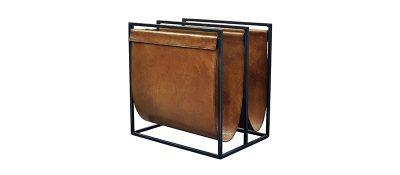 Magazine-Holder-Double-Black-Frame-Light-Brown-Pure-Furniture-350-2