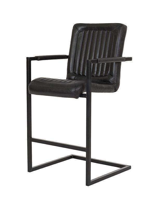 Sabina-Barstool-Black-Frame-H=65-I-Stitching-Fumee-Pure-Furniture-1