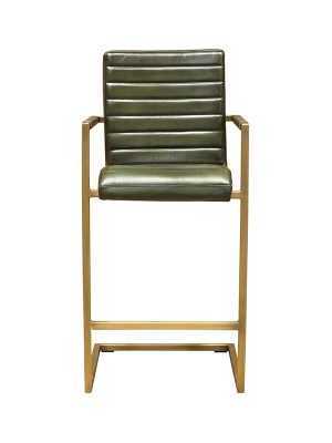 Sabina-Barstool-British-Green-(Glossy)-E-Stitching-Brass-Antique-Metal-Frame-Pure-Furniture5