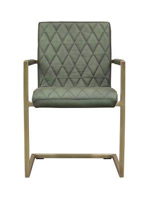 Sabina-Square-Tube-British-Green-(Matt)-N-Stitching-Brass-Antique-Metal-Frame-Pure-Furniture1