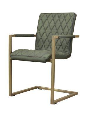 Sabina-Square-Tube-British-Green-(Matt)-N-Stitching-Brass-Antique-Metal-Frame-Pure-Furniture2