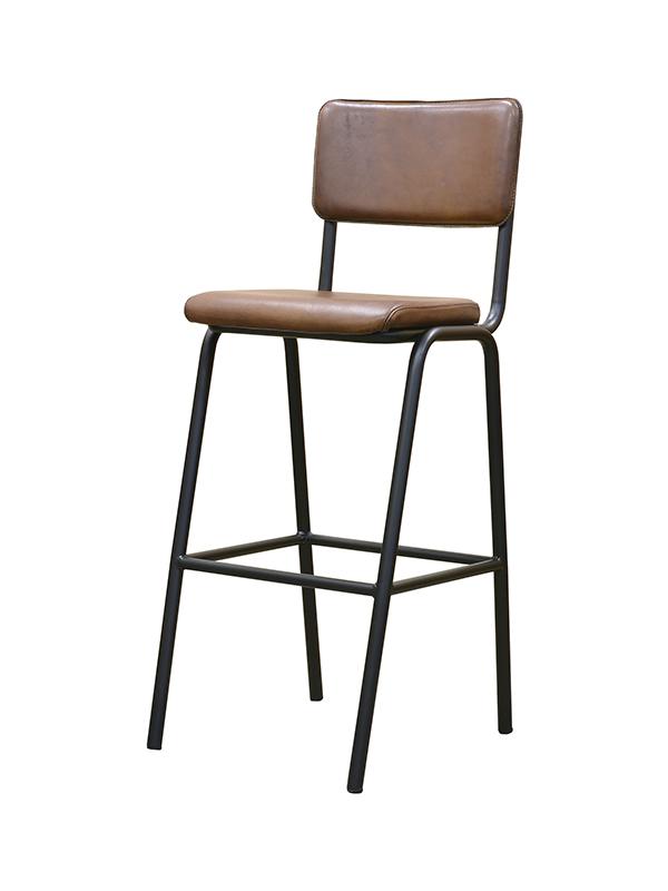 Schoolchair-Barstool-Light-Brown-(Matt)-Painted-Natur-Grey-Metal-Frame-Pure-Furniture4
