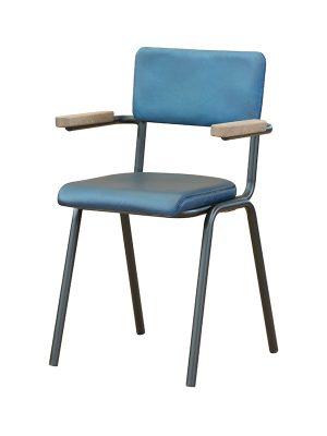 Schoolchair-With-Arms-Blue-matt-Pure-Furniture2