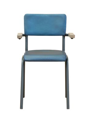 Schoolchair-With-Arms-Blue-matt-Pure-Furniture3