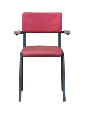 Schoolchair-With-Arms-Red-matt-Pure-Furniture2