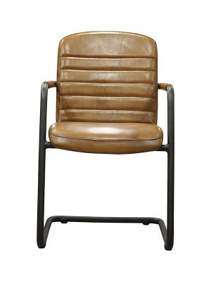 Sean-Armchair-Light-Brown-(Glossy)-E-Stitching-Pure-Furniture1