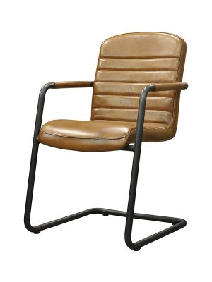 Sean-Armchair-Light-Brown-(Glossy)-E-Stitching-Pure-Furniture2