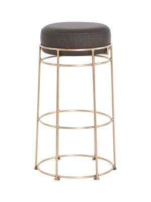 rosa-barstool_military-olive-matt_brass-antique-frame-Pure-Furniture